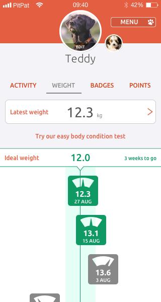 pitpat app weight